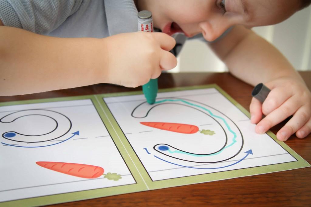Preschool Letter of the Week c write and wipe fun