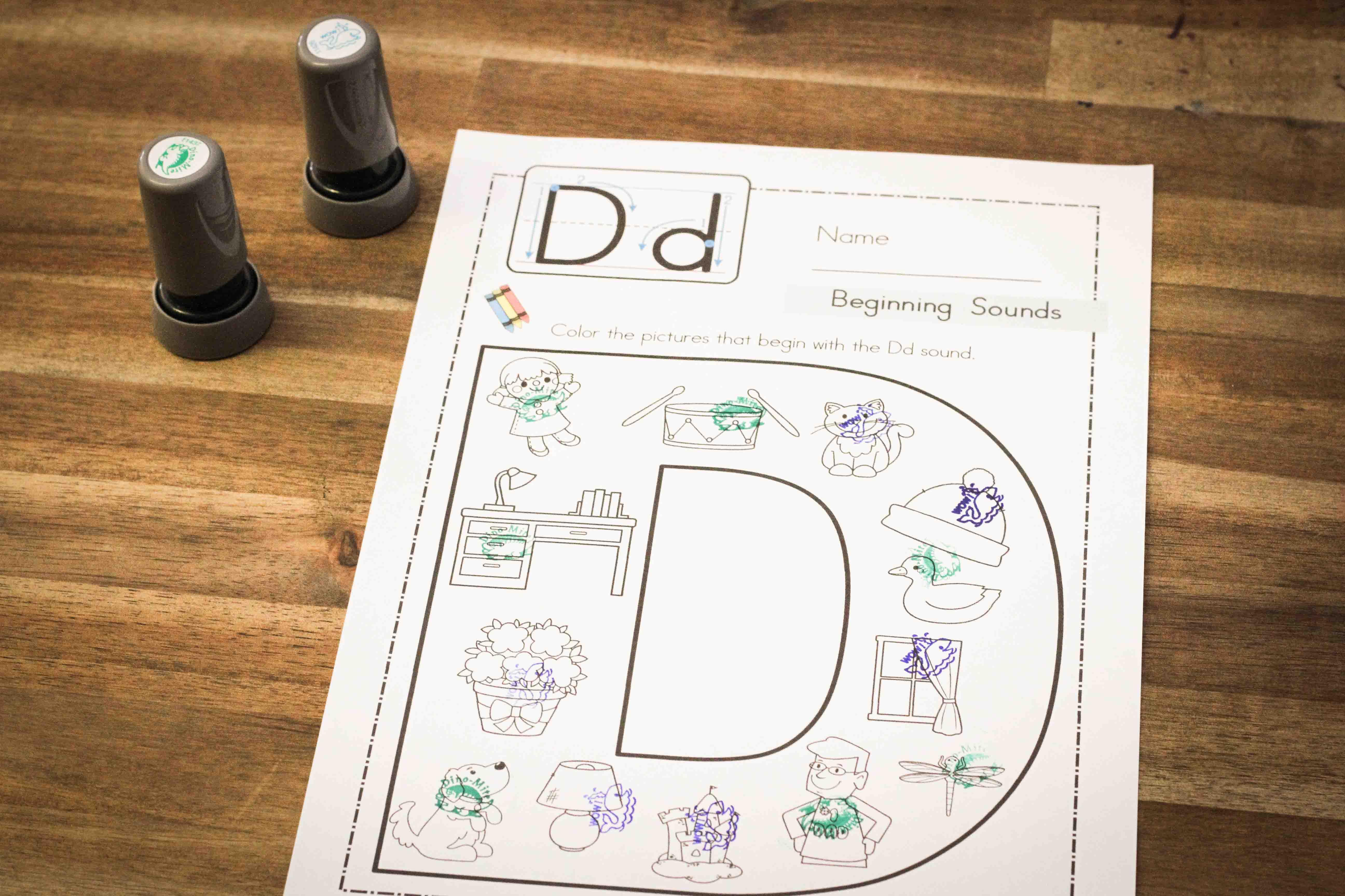 Preschool Letter D - In My World