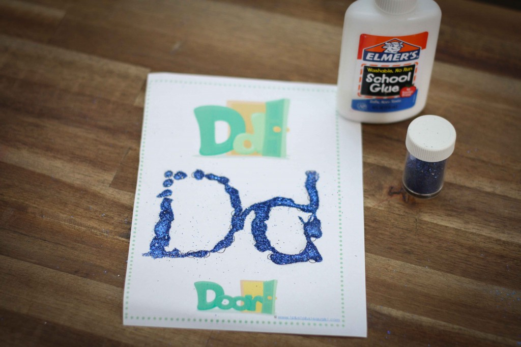 Preschool Letter of the Week d Q-Tip activity