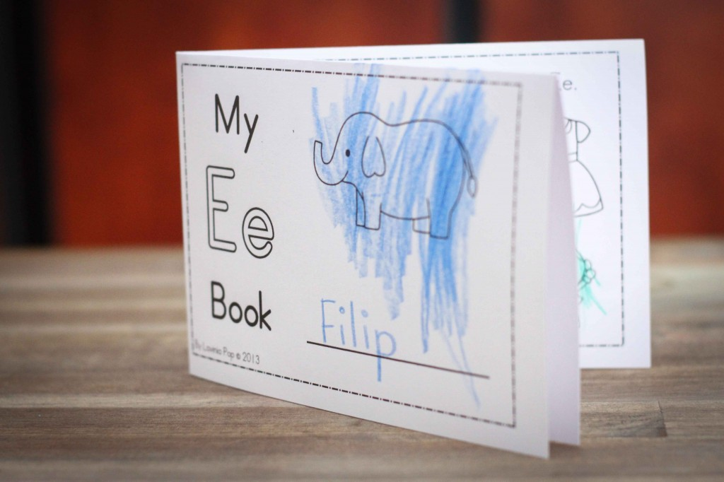 Preschool Letter of the Week E mini book
