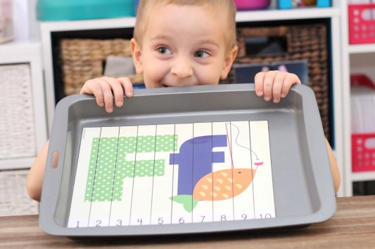 Letter of the Week F Alphabet Number Puzzles