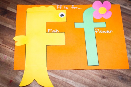 Letter of the Week F Craft Fish and Flower