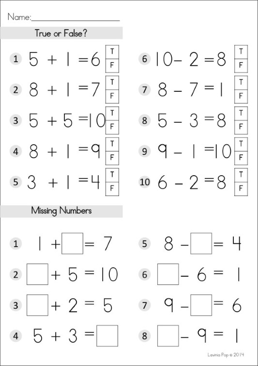 Addition and Subtraction worksheet by Lavinia Pop