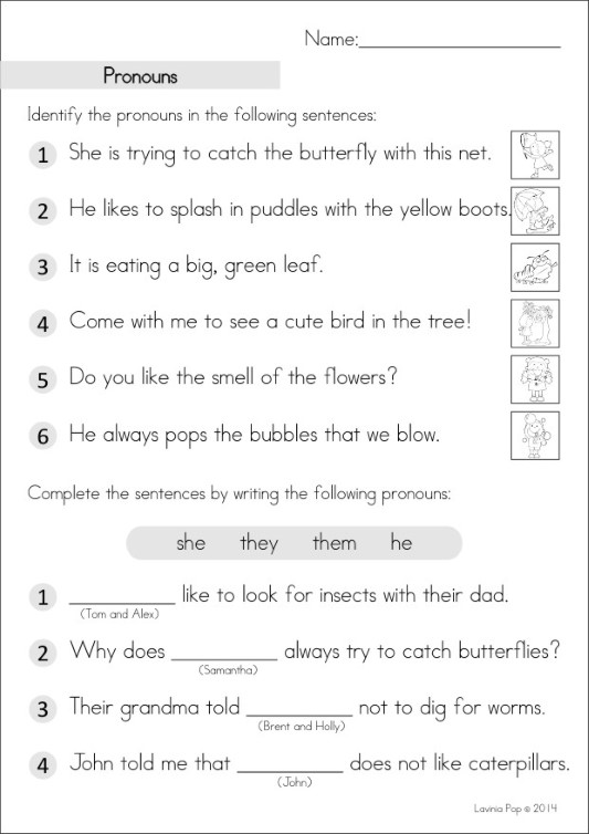Grade 2 Homework An Introduction In My World – Free Pronoun Worksheets