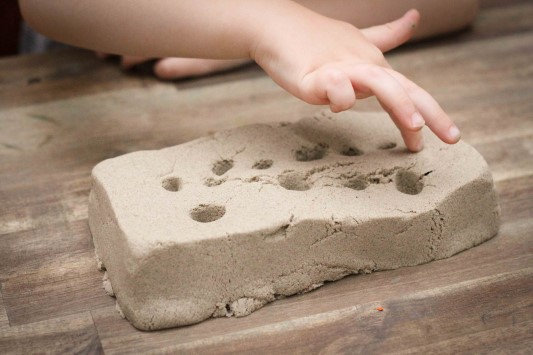 Preschool on the Farm theme magic sand