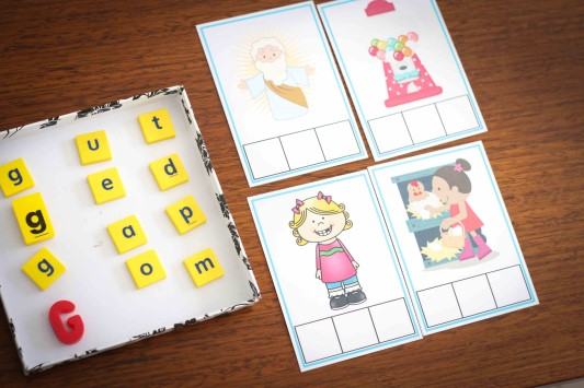 Preschool Letter of the Week G CVC word building