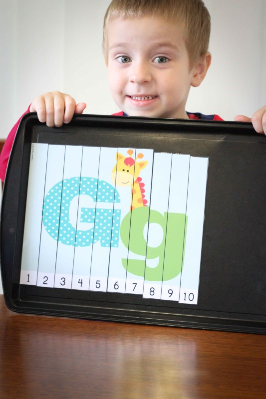 Preschool Letter of the Week G Number Puzzle