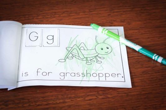 Preschool Letter of the Week G Beginning Sounds Booklet
