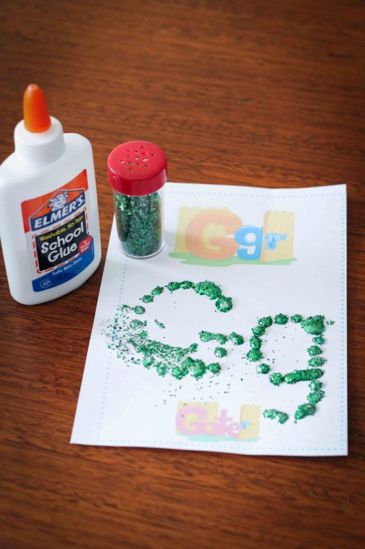 Preschool Letter of the Week G Fine Motor