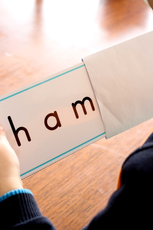preschool letter h word slider cards