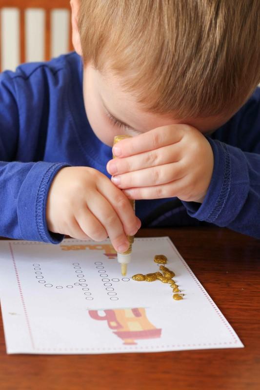 Preschool Letter H fine motor