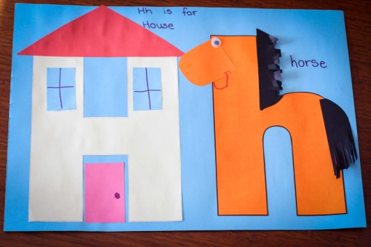 Preschool Letter H In My World