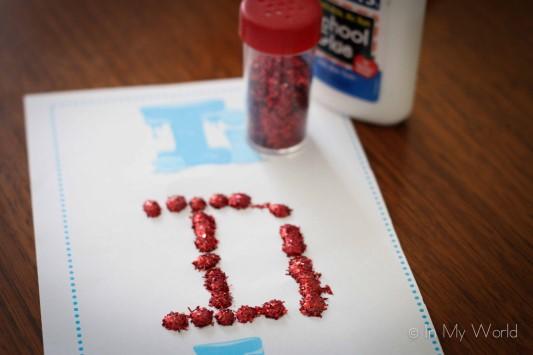 Preschool Letter I q-tip