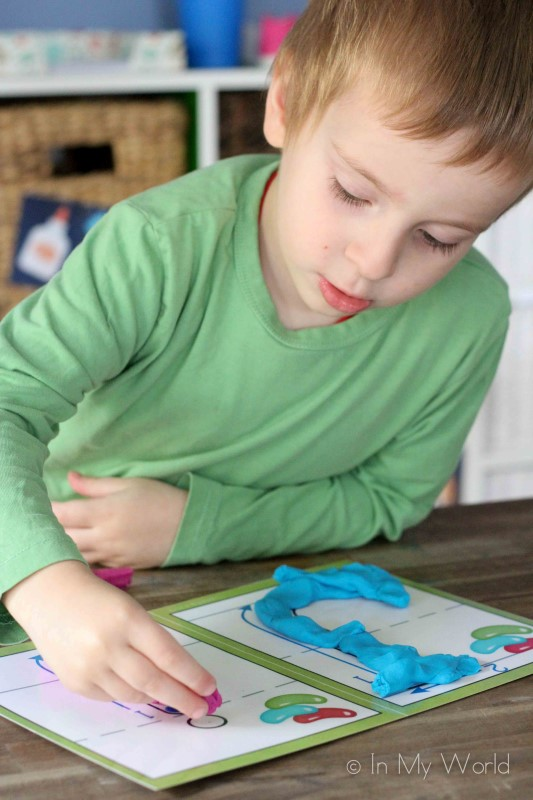 Preschool Letter J Alphabet Play Dough Mats