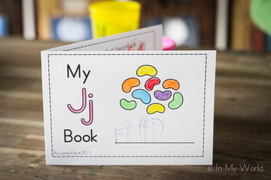 Preschool Letter J Foldable Activity Mini Book
