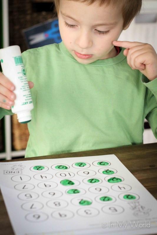 Preschool Letter J Number Maze