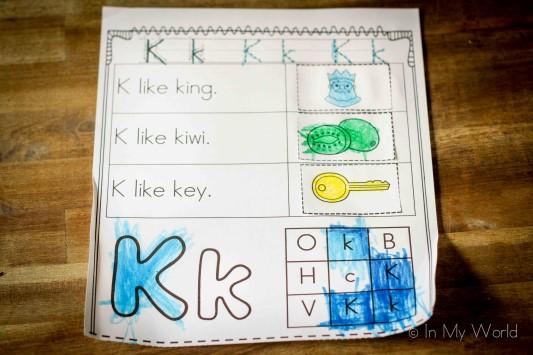 Letter K-13 (Custom)
