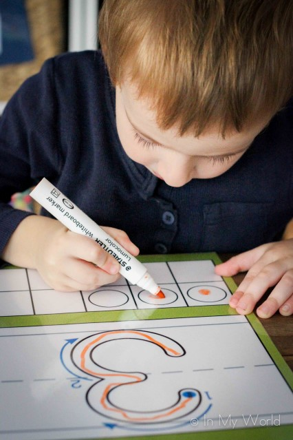 Preschool Number Play Dough Mats