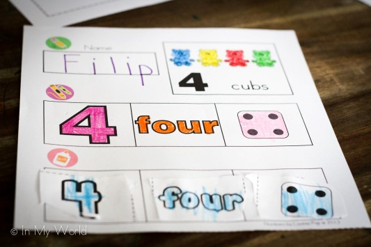 Preschool Letter L Numbers Cut and Paste
