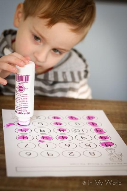 Preschool Number Maze