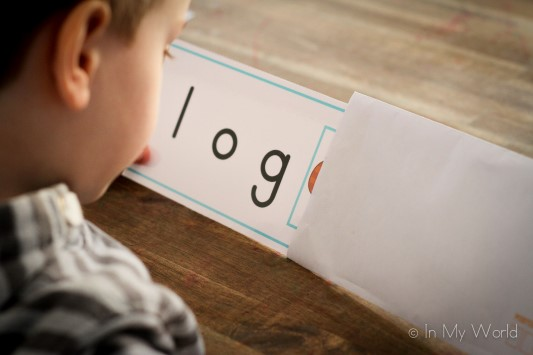 Preschool Letter L CVC Word Slider Cards