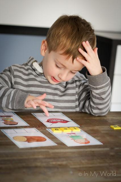 Preschool Letter L CVC Word Builder Cards