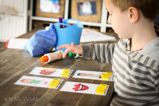 Preschool Letter L CVC Word Builder Cards