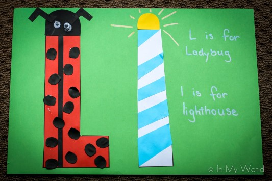 Preschool Letter Craft Ladybug Lighthouse