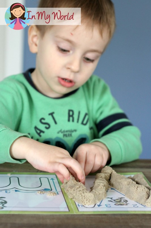 In My World Preschool Letter M Play Dough Fine Motor Kinetic Sand