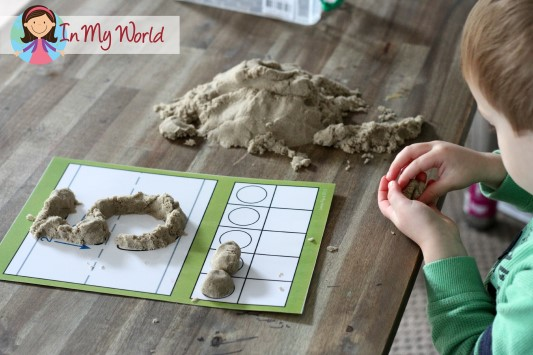 In My World Preschool Number 5 Play Dough Fine Motor Kinetic Sand