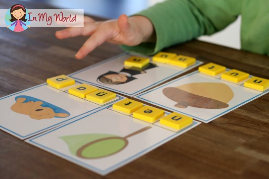In My Word CVC Word Segmentation Cards
