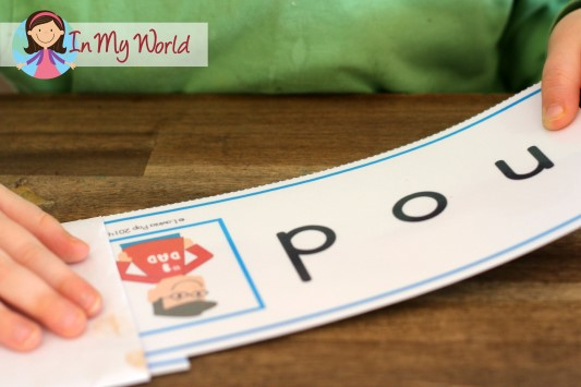 In My Word CVC Word Slider Cards
