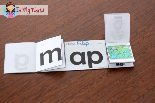 In My World CVC Word Family Flip Flap book