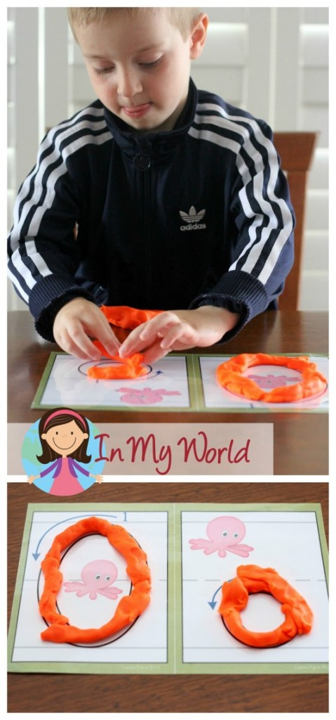 Preschool Letter O Alphabet Play Dough Mats