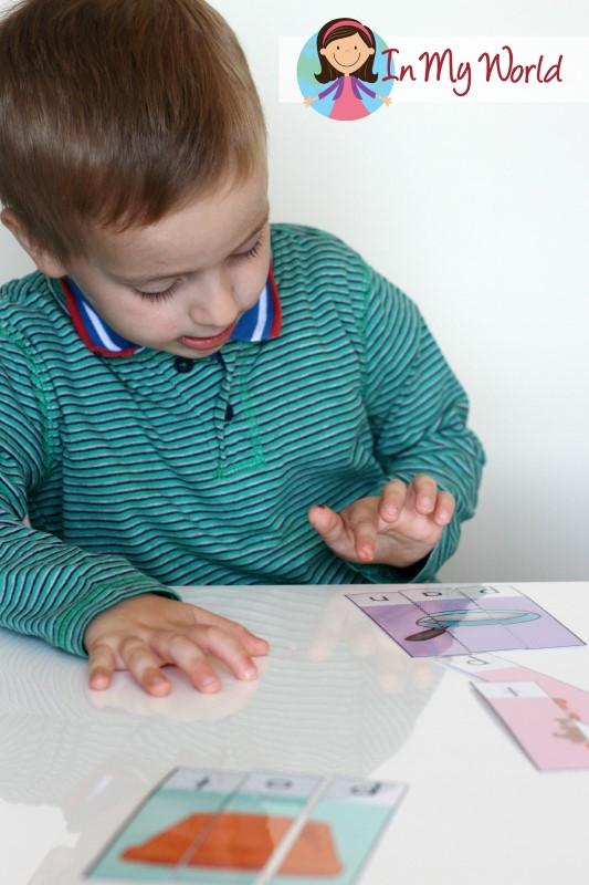 Preschool Letter P CVC Puzzles