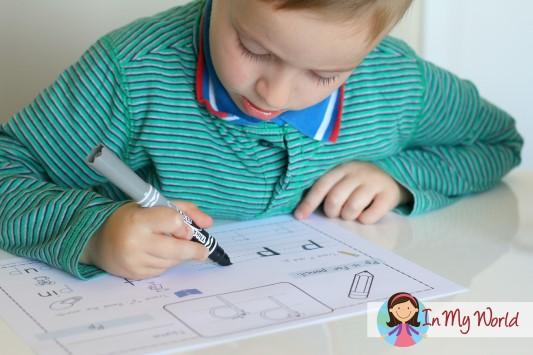 Preschool Letter P Worksheet