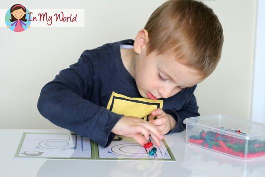 Preschool Letter P Alphabet Play Dough Mats