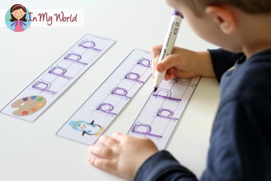 Preschool Letter P Alphabet Write and Wipe