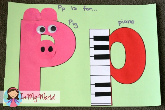 Preschool letter p in my world for Letter p preschool crafts