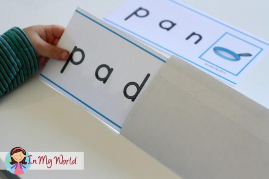Preschool Letter P CVC Word Slider Cards
