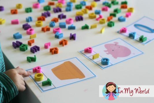 Preschool Letter P CVC Phoneme Segmentation Cards
