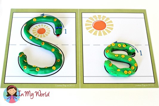 Preschool Letter S Alphabet Play Dough Mat