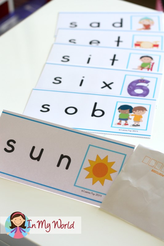 Preschool Letter S FREE Beginning S CVC word slider cards