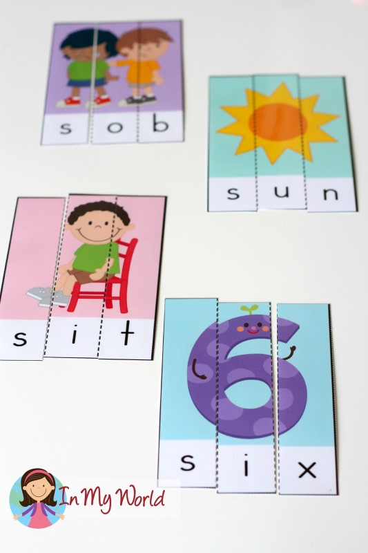 Preschool Letter S FREE Beginning S CVC Puzzles