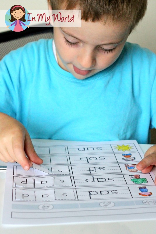 Preschool Letter S FREE Beginning S CVC cut and paste worksheet