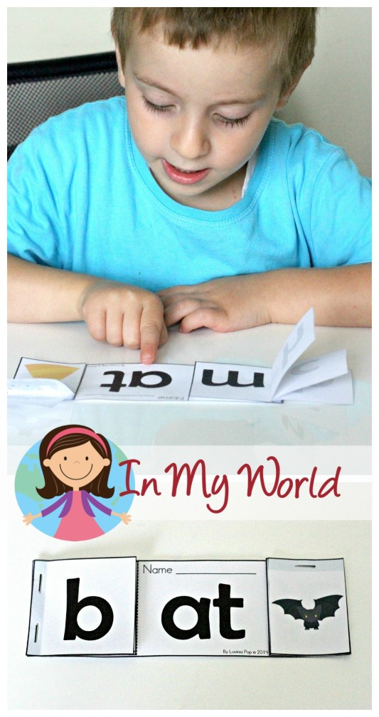 Preschool Letter S AT word family booklet