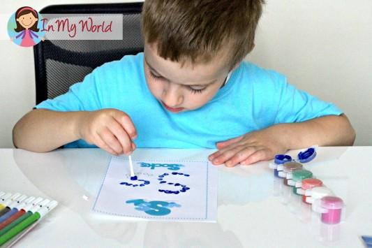 Preschool Letter S FREE Q-Tip printable