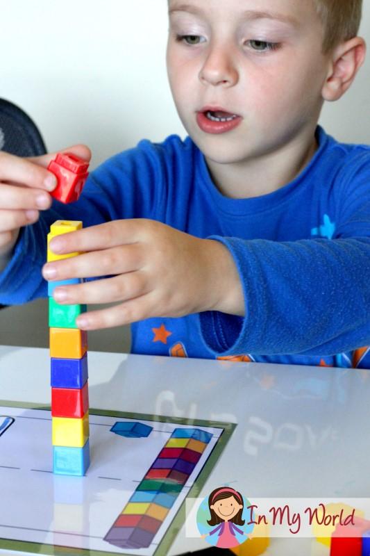 Preschool Letter S Play Dough Mat with unifix cubes