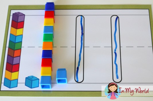 Preschool Letter S Play Dough Mat with unifix cubes