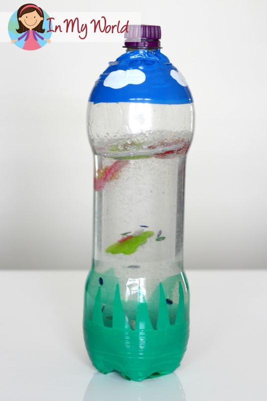 Creation Day 3 God Made the Land and Plants sensory bottle
